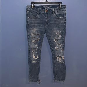 American eagle super stretch ankle jeans!